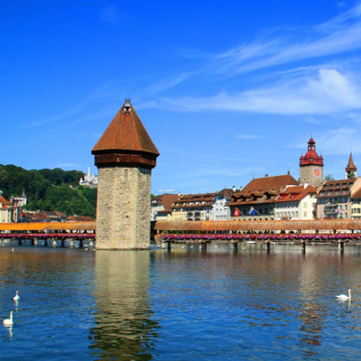 Lucerne - with the famous Kappel bridge
