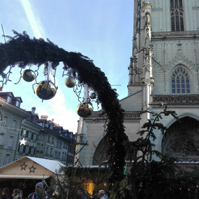 Berne - Christmas Market - Munsterplatz - UNESCO