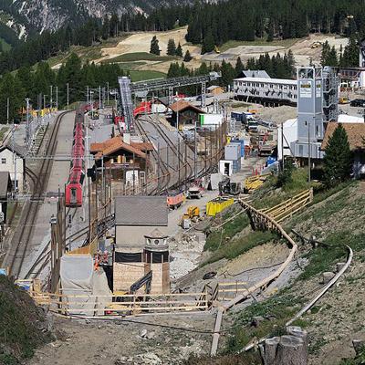 Albulatunnel - Baustelle