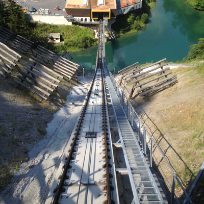 Stoos - steepest Cable railway track
