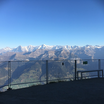 Niesen - View into the Jungfraujoach mountain chain
