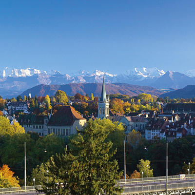 Berne - View to the Jungfrau mountain chain