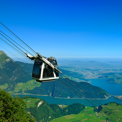 Stans - Stanserhorn - Cabrio Aireal Cable Car