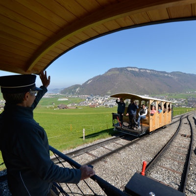 Stanserhorn - 1st section - Cable railway (1893)