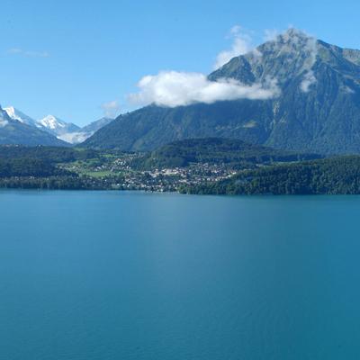 Lake Thun with Mount Niesen
