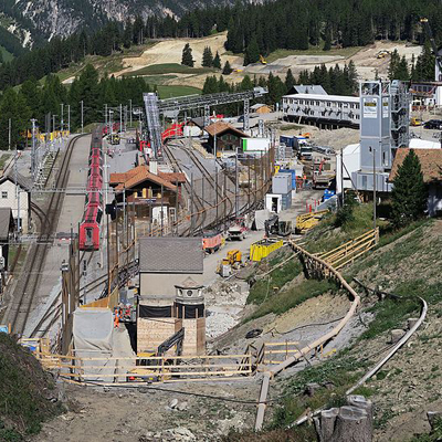 Albula Tunnel - Construction Site