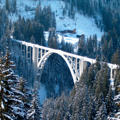 Langwieser Viaduct - on the way to Arosa