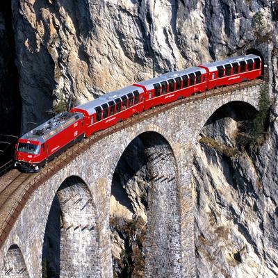 Landwasser Viaduct - Glacer Express train