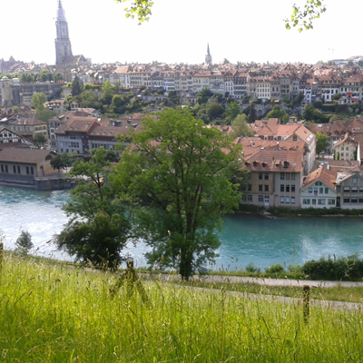 Berne - Old town - Aare river