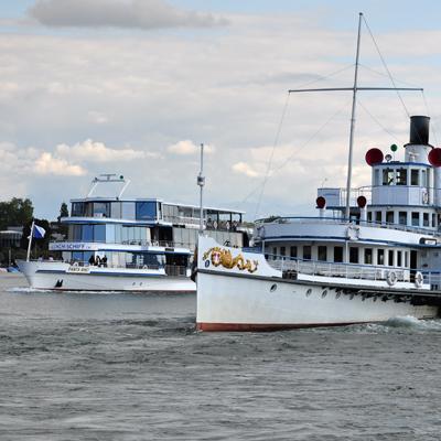 Zurich Lake - Vessels Panta Rhei & Town Rapperswil