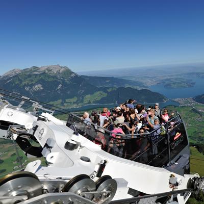 """Stanserhorn - """"Cabrio"""" Aerial cableway"""