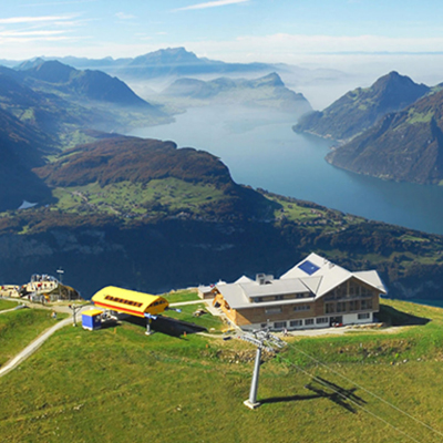 Fronalpstock - View to Lake Lucerne