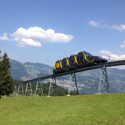 Stoos - Cable railway newest construction in the world