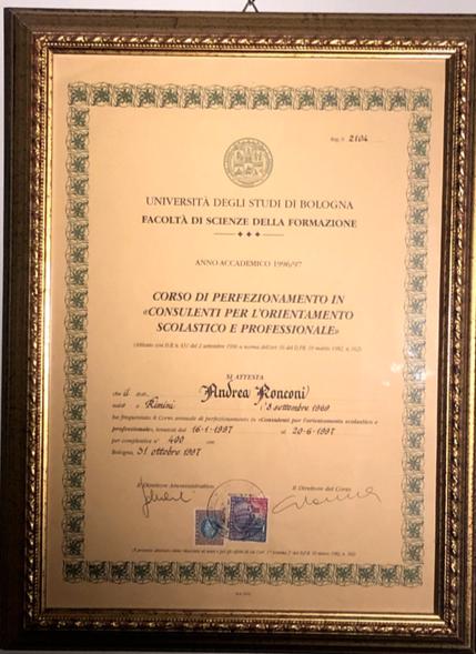 orientamento scolastico e professionale Milano Dr Andrea Ronconi