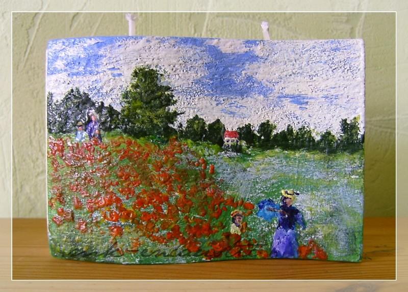 Das Mohnfeld nach Monet