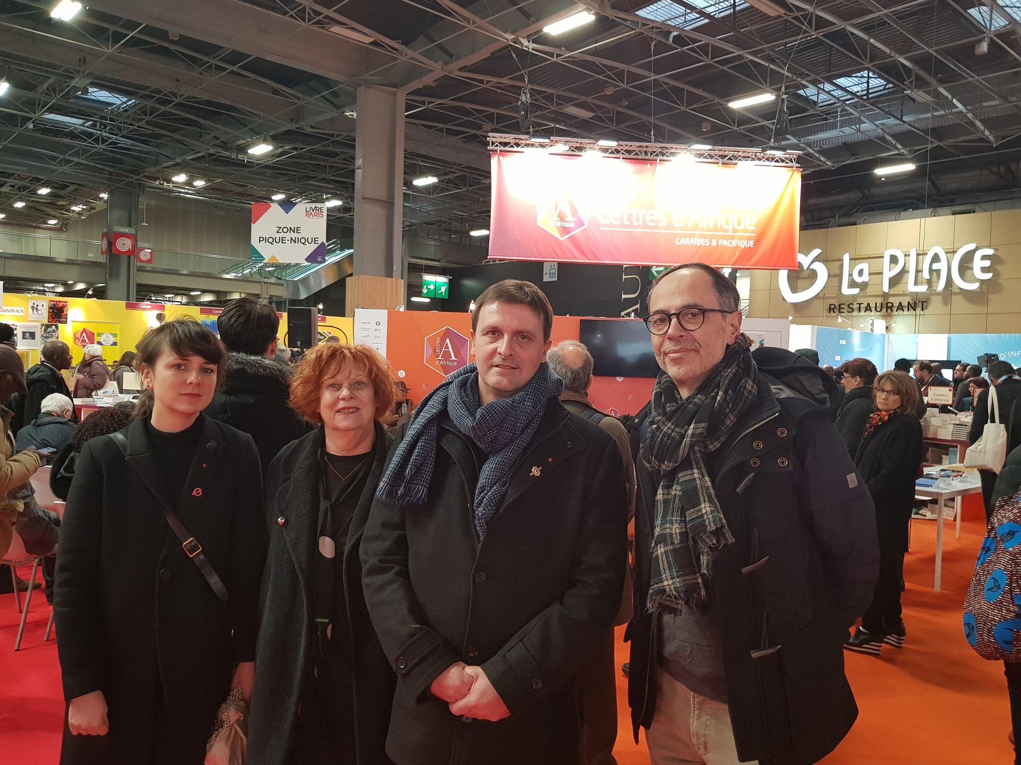 Merci à Gilles, Marie-Nil, Danièle, Roger, Bernard, Léa ... Toutes celles et ceux qui ont travaillé pour que la délégation France Insoumise aille à la rencontre des exposant.e.s au Salon du livre 2018 !