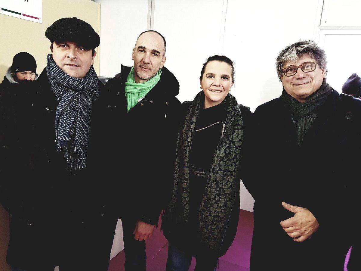 Avec Loïc Prud'Homme, Caroline Fiat et Eric Coquerel.