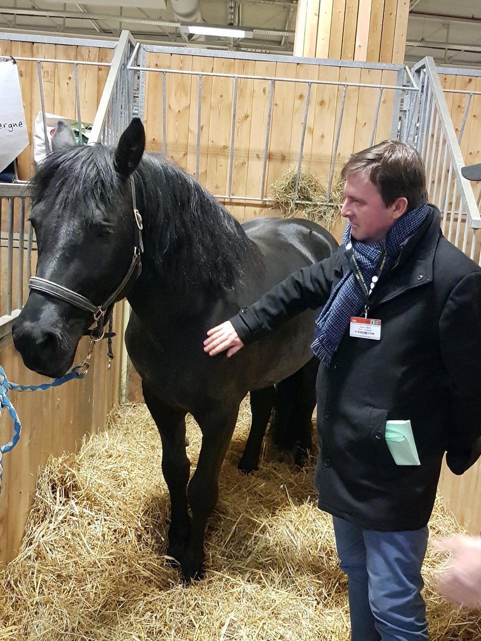 Accueil très chaleureux sur le stand du cheval de Merens aux côtés d'éleveur.se.s adhérant.e.s au Sherpa.