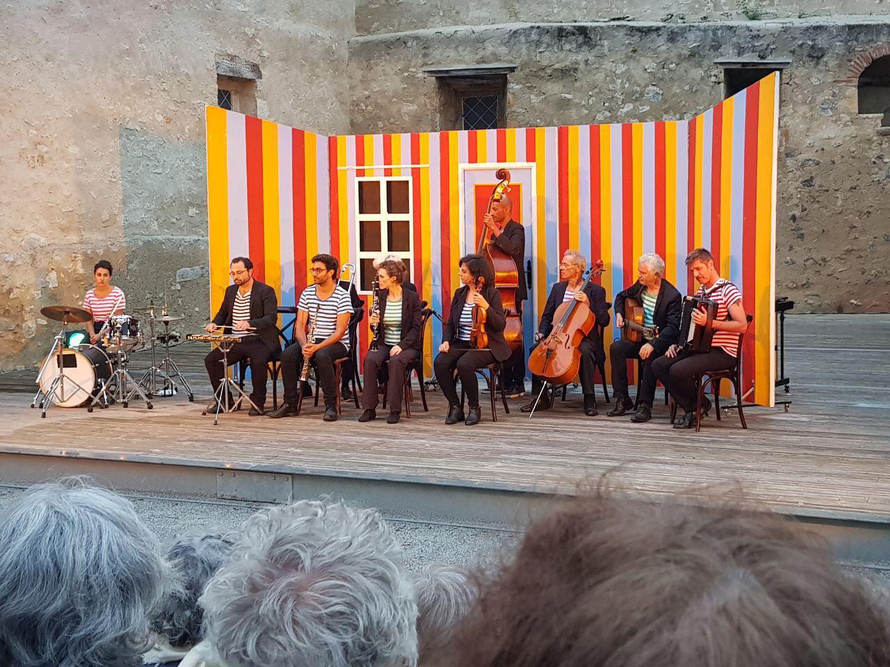 Concert, au théâtre de verdure de Tourtouse