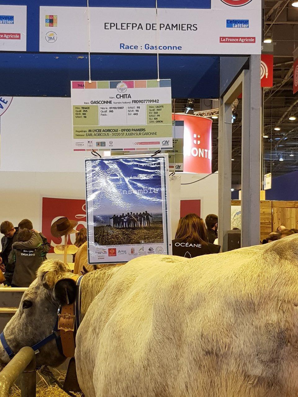 Passage par le stand du lycée agricole de Pamiers à la rencontre des agriculteur.trice.s de demain.