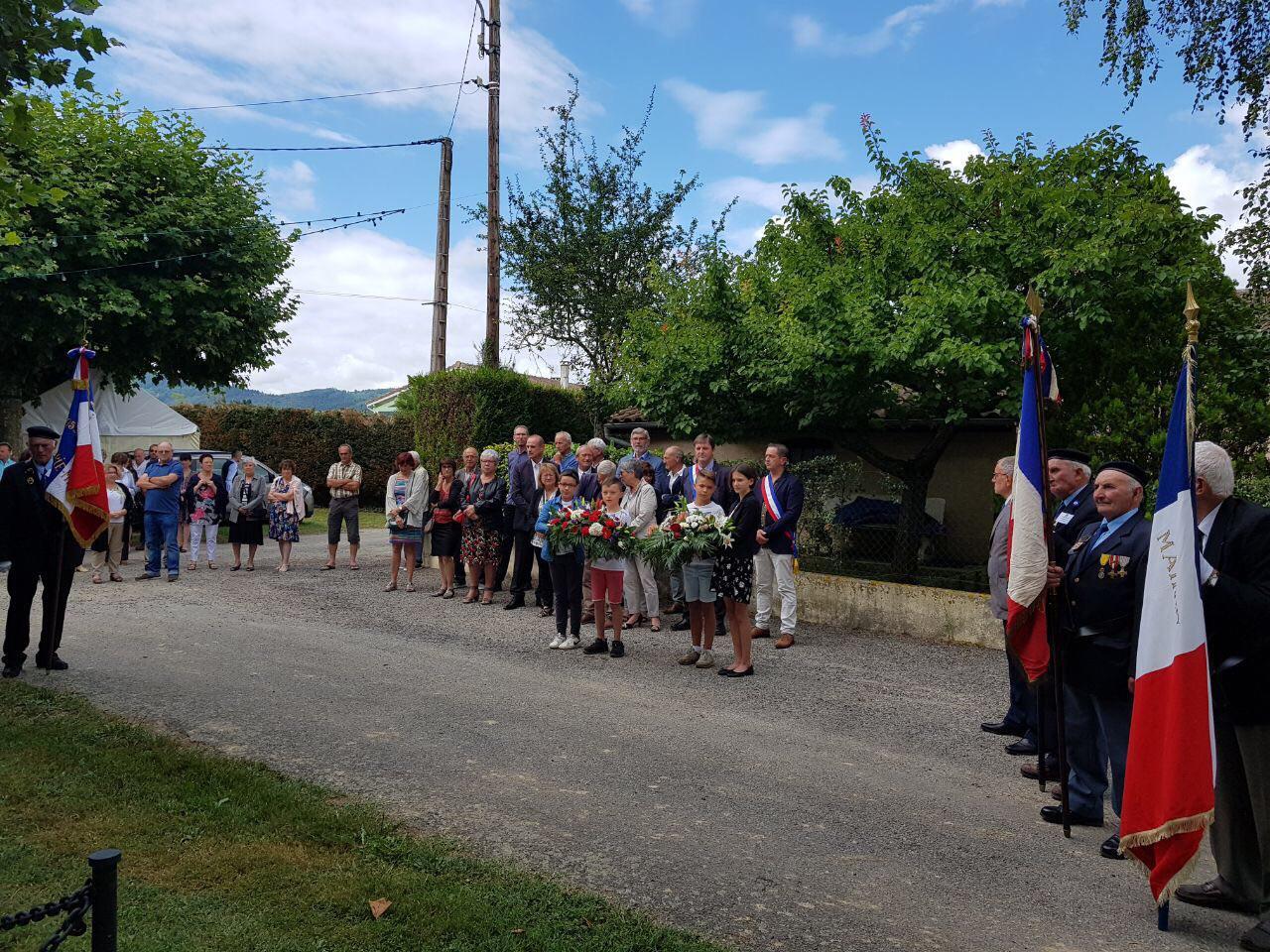 Cérémonie du 14 juillet à Saint-Victor-Rouzaud