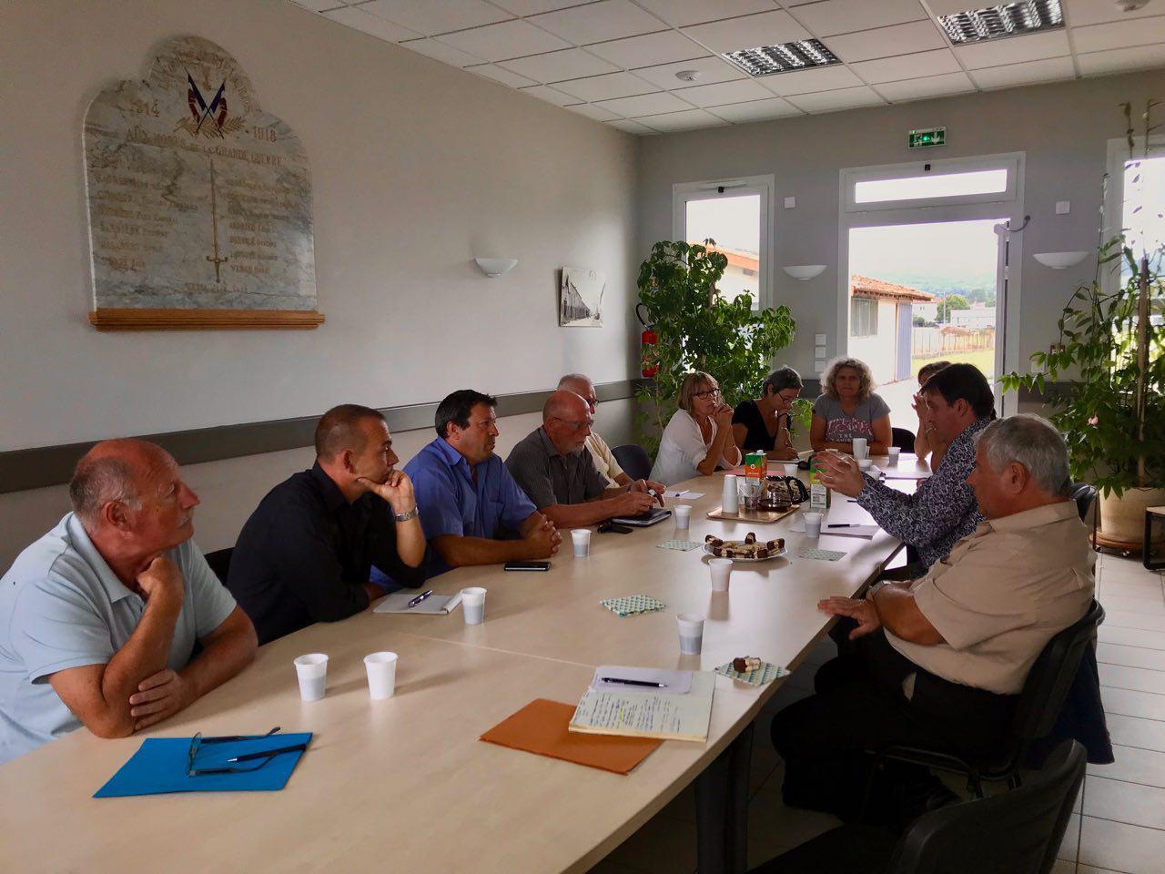 Réunion avec les maires et élu.e.s de Rieucros, Viviès et St-Félix-de-Tournegat