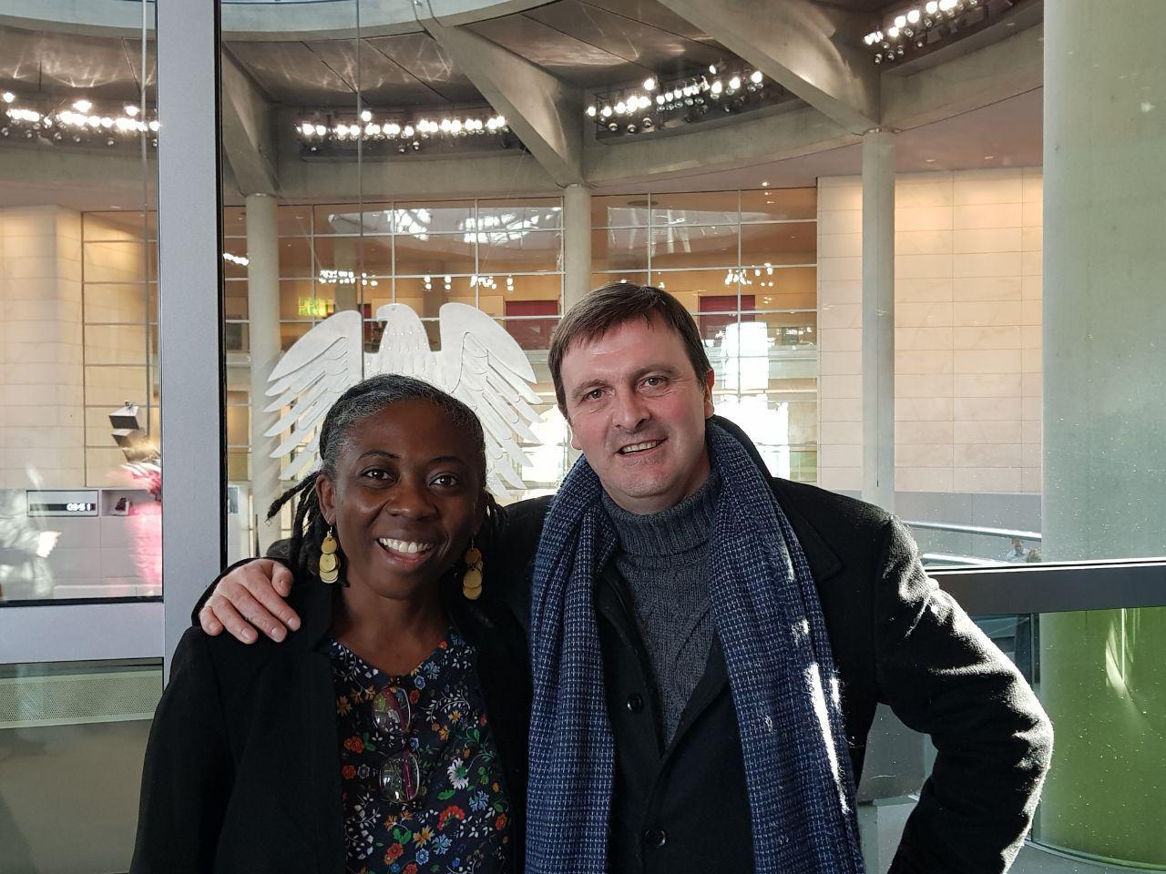 Avec la députée Insoumise Danièle Obono.