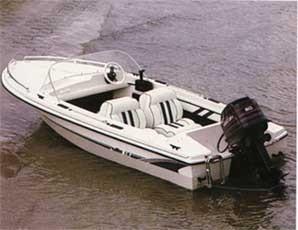 Autodachboot  kleines Motorboot für den Einsteiger Angelboot GFK-Boot