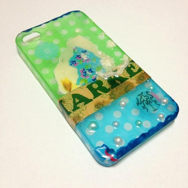 【iPhone4/4S】MARKET (green×blue