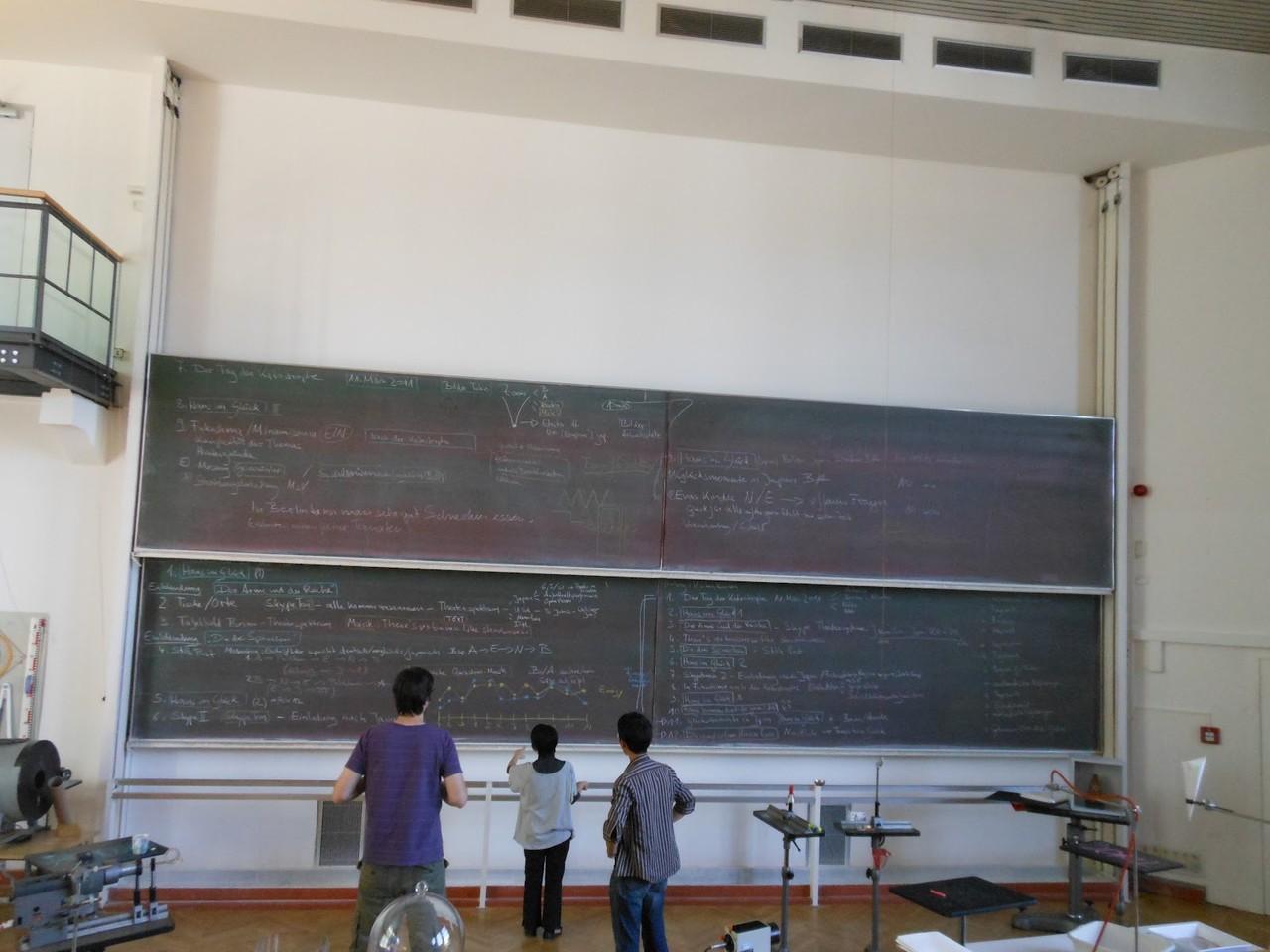 物理学の講義・・・ではなく稽古風景2