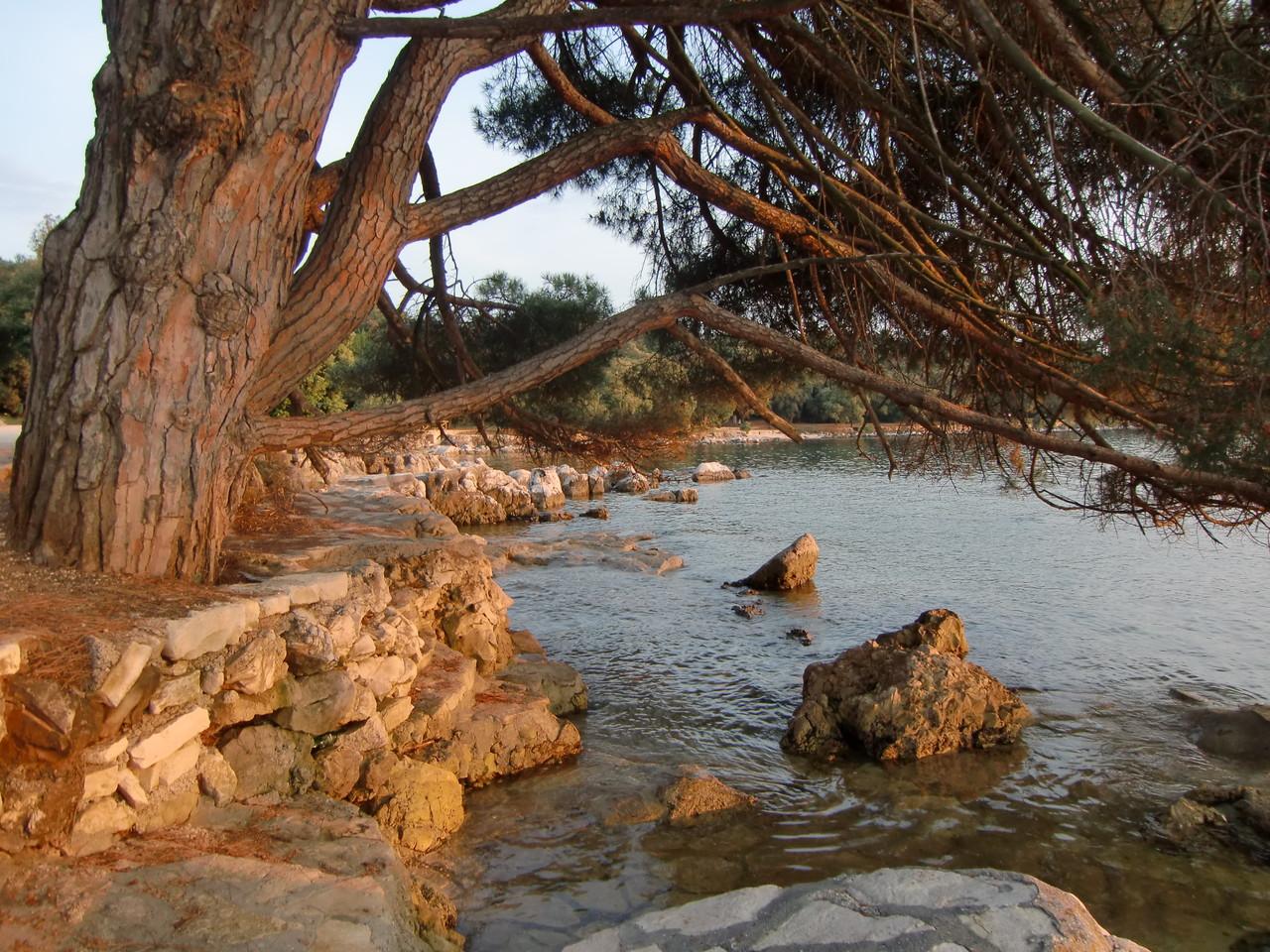Strand in Rovinj