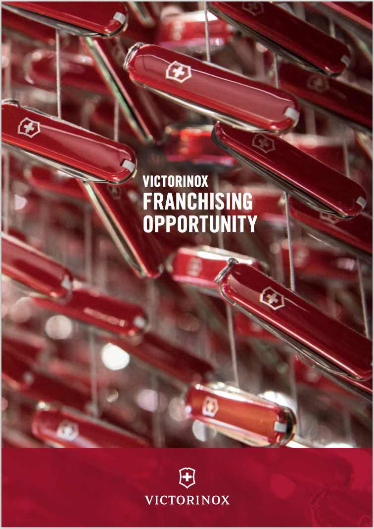 Neue Broschüre «VICTORINOX FRANCHISING OPPORTUNITY» © VICTORINOX AG