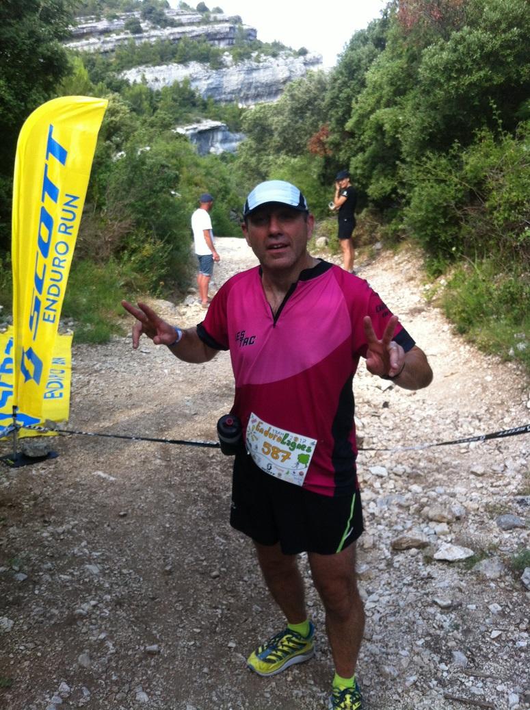 9-Bruno après le 1er segment (montée de 900m!)