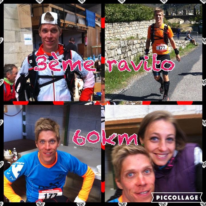 28-Aaah, grand bonheur - le 3ème ravito solide avec Mlle Tortue toujours là.. (60km - 16h22) (donc 12h22 de course)