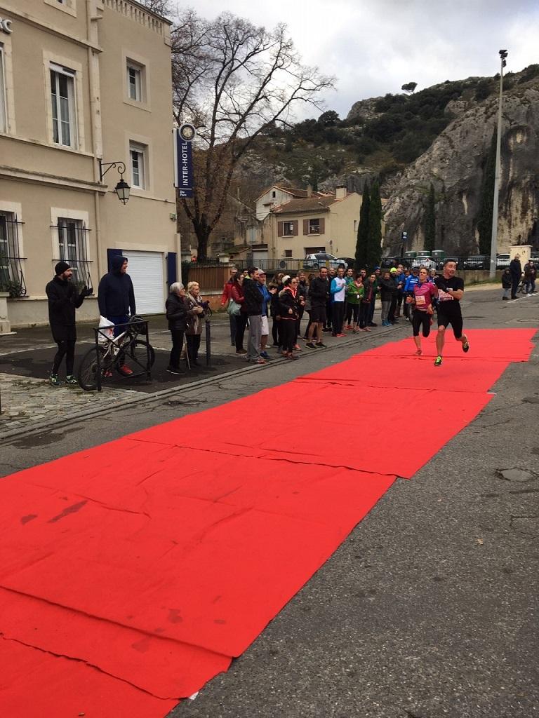11-Voici les arrivées du 16km- celle de Stef, au sprint