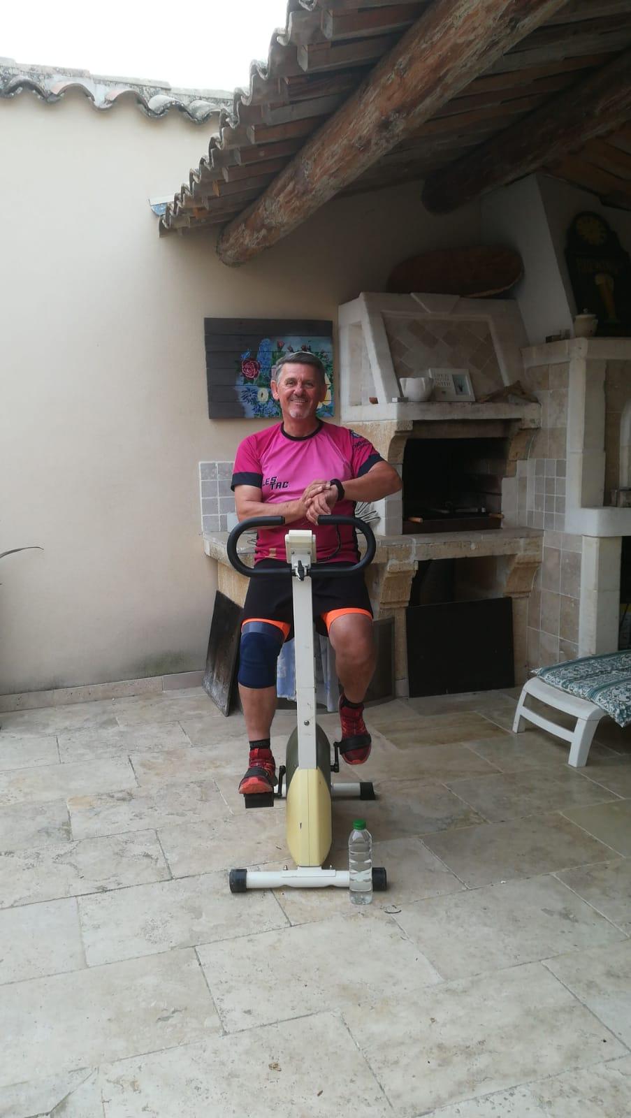 1-Eric lance le challenge à vélo
