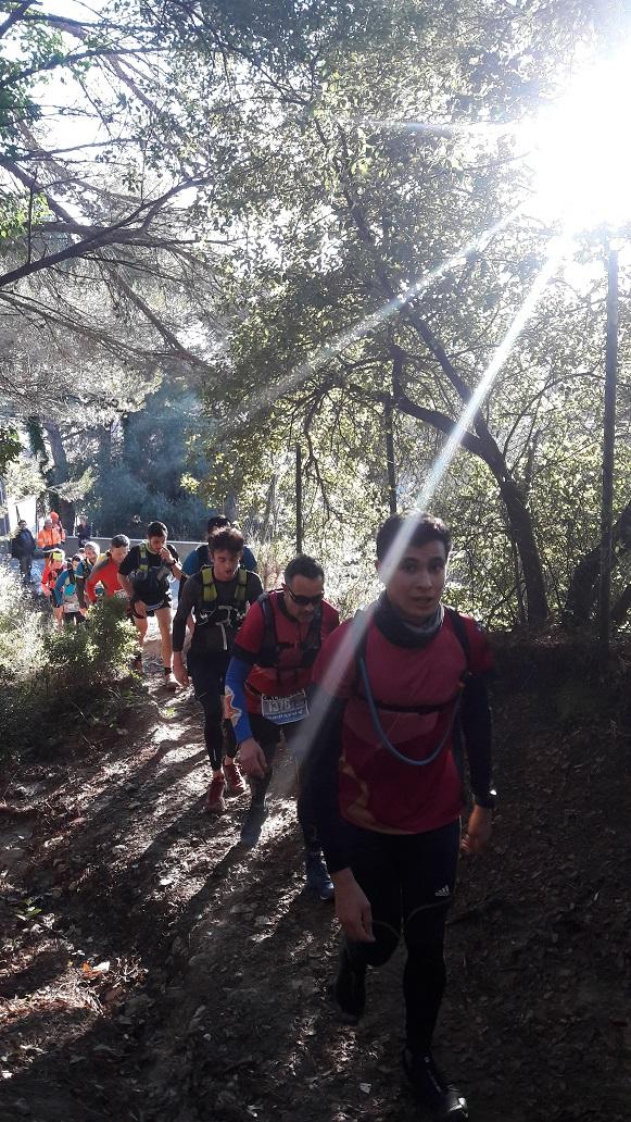 9-Passage de Camille et Seb' au 2ème km, ça grimpe..