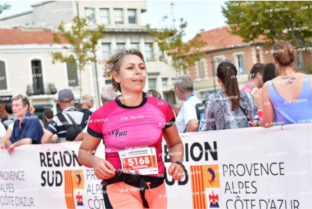 17-L'arrivée de Sandrine après 21kms