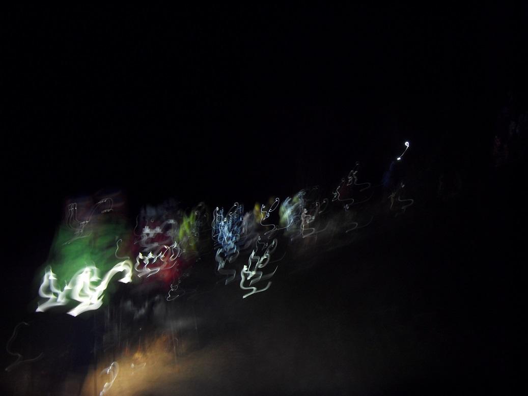 10-Grandiose spectacle des frontales qui nous éclairent dans la nuit.. (2km - 4h20)