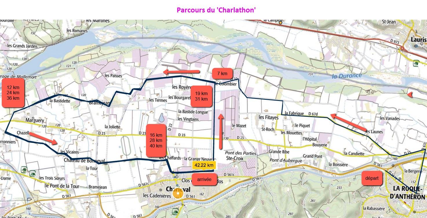 1-Le parcours du 'Charlathon'