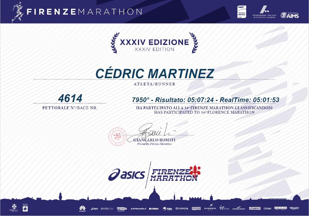 28-Et pour Cédric, record perso'.. (bientôt sous les 5h..)
