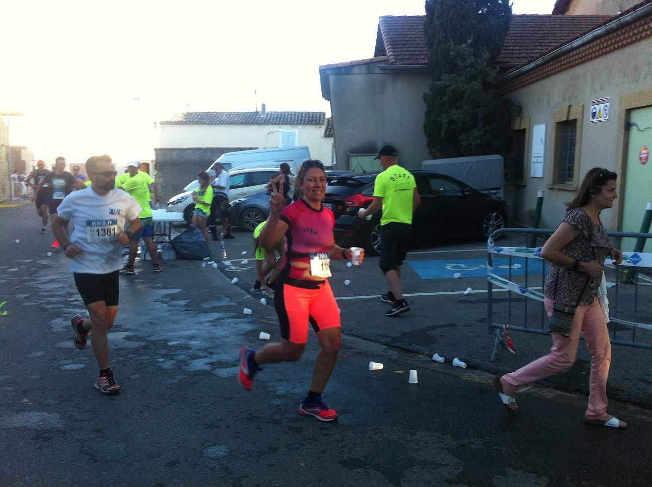 11-Sandrine est prête pour les 6,7km restant..