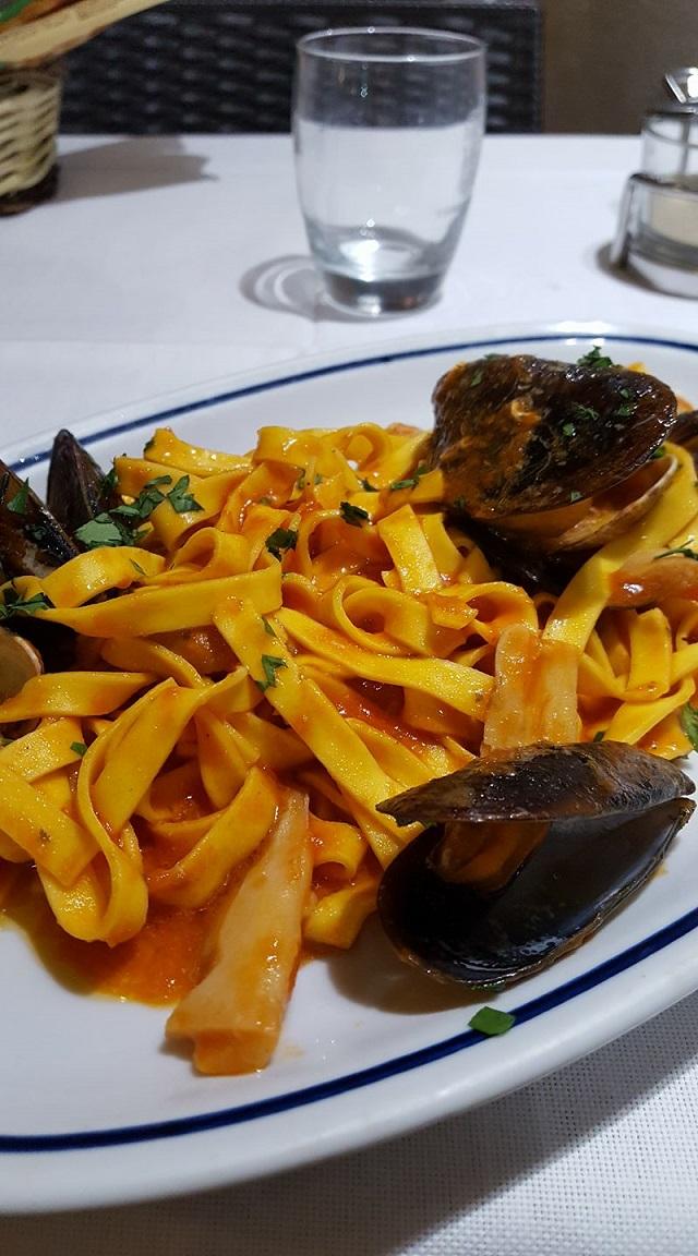 2-Repas de la veille, pasta bien sûr