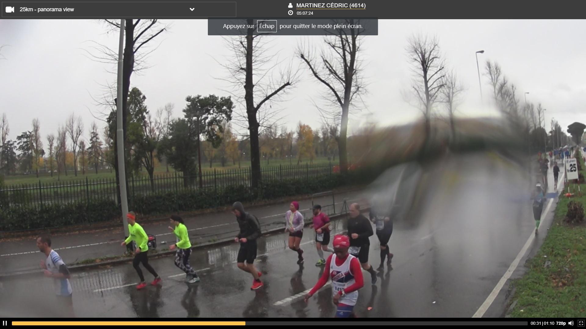 8-C'est parti fort: 25km en 2h41.. malgré la vilaine pluie..