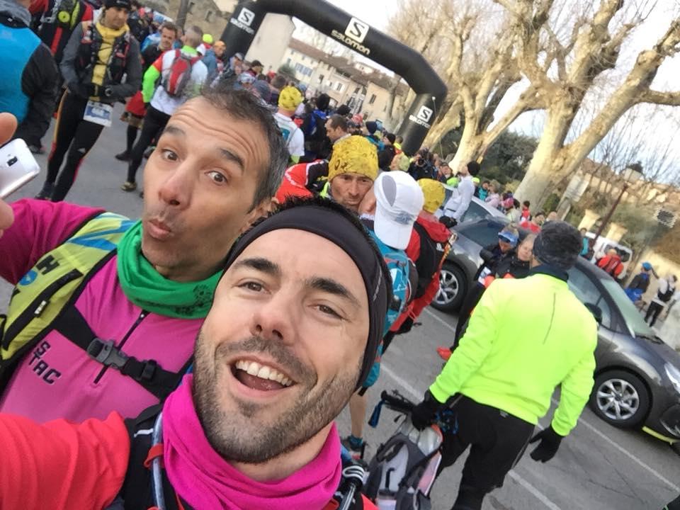 4-Avant le départ, Seb' et Christophe en fuchsia et enjoués..