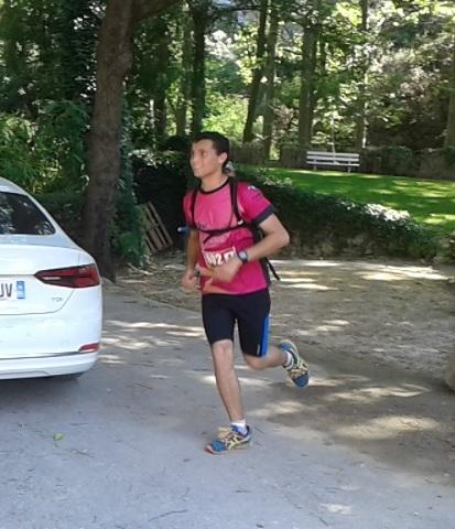 13-Et voici Camille qui finit à balle les 4 derniers km