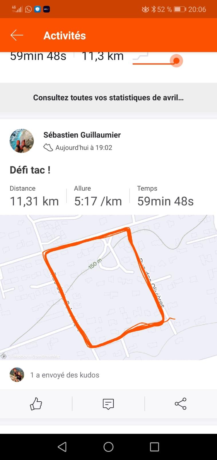47-Joli trace d'1h de running pour Seb' G