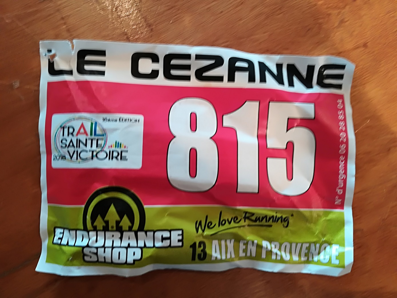 15-Le dossard souvenir de ma plus longue course... pour l'instant..