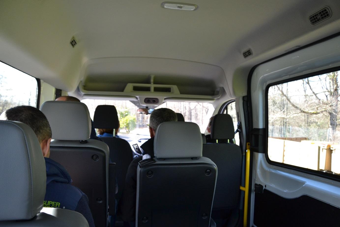 1-En route, en mini-bus, direction l'Ariège..