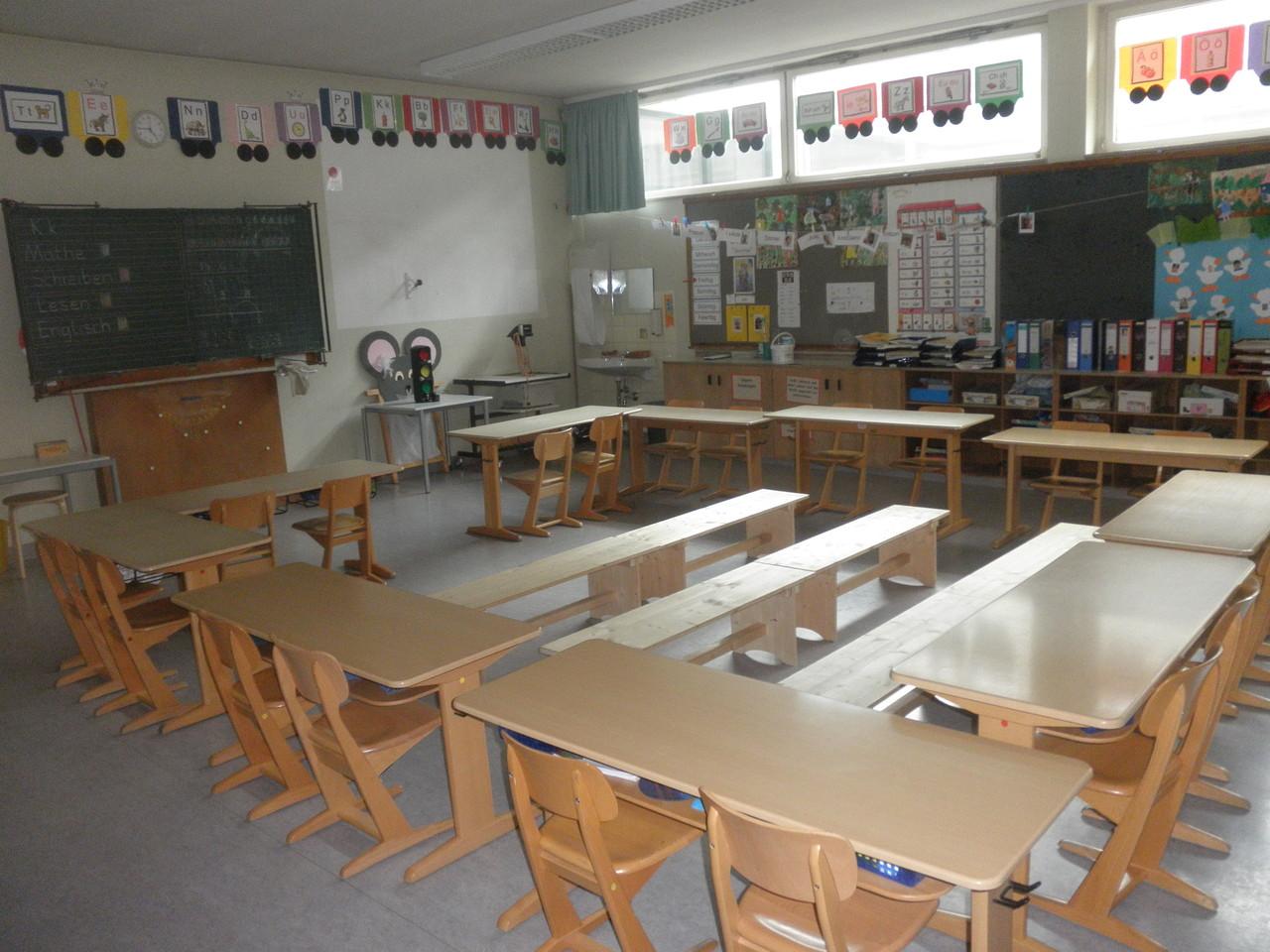 Klassenzimmer im Mittelbau